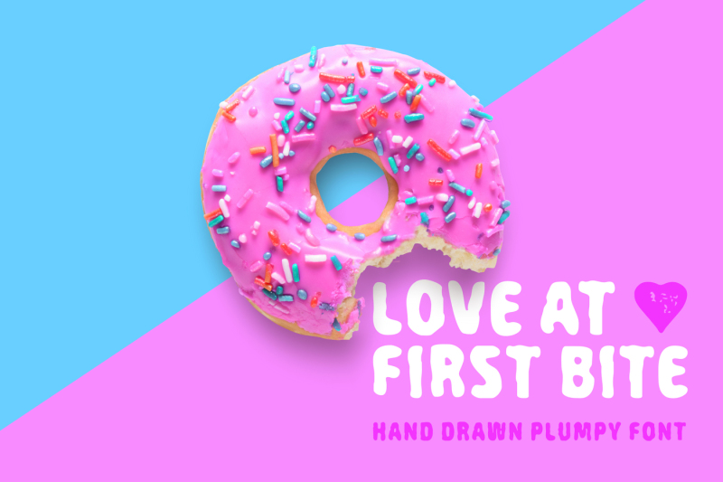 love-at-first-bite-handcrafted-sans-serif-font