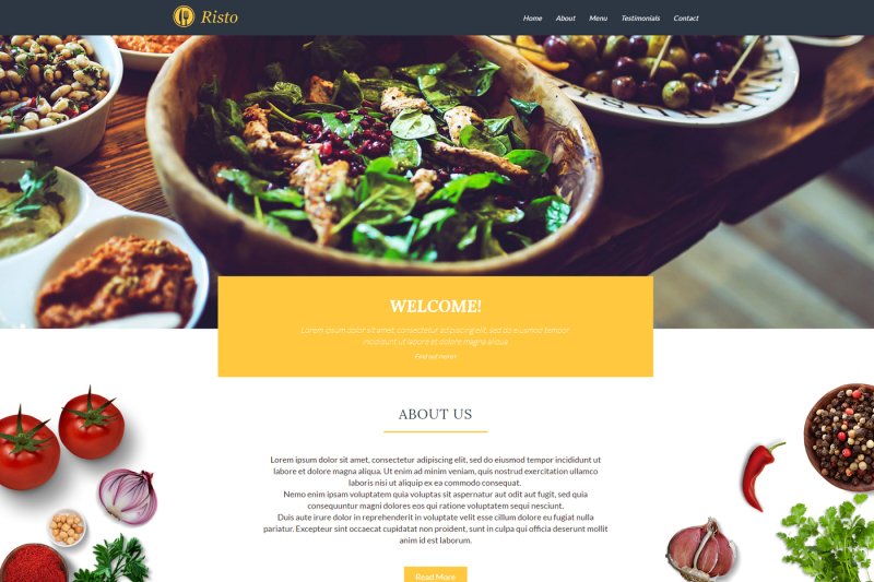 risto-theme-restaurant-one-page-website