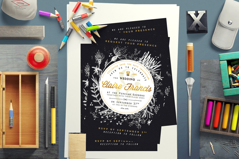 foliage-and-crayon-wedding-invite-i