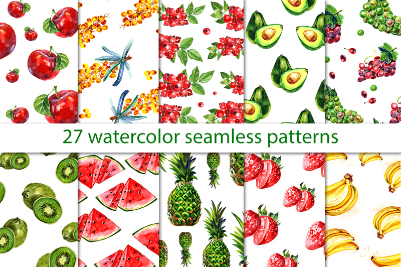 watercolor-fruits-and-berries