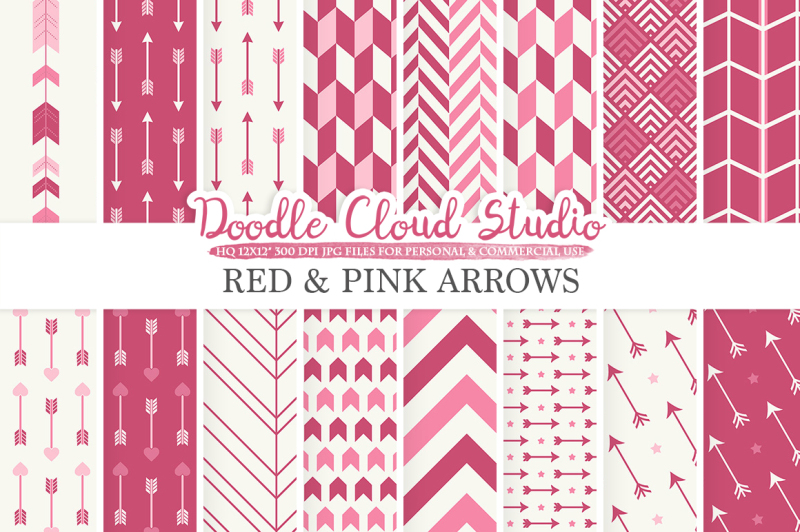 red-and-pink-arrows-digital-paper-purple-wine-arrow-patterns-tribal-archery-chevron-triangles-backgrounds-for-personal-and-commercial-use