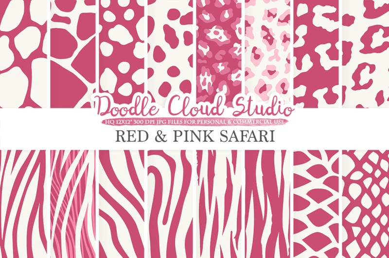 red-and-pink-animal-safari-digital-paper-purple-wine-fur-pattern-giraffe-zebra-leopard-snake-tiger-backgrounds-for-personal-and-commercial-use