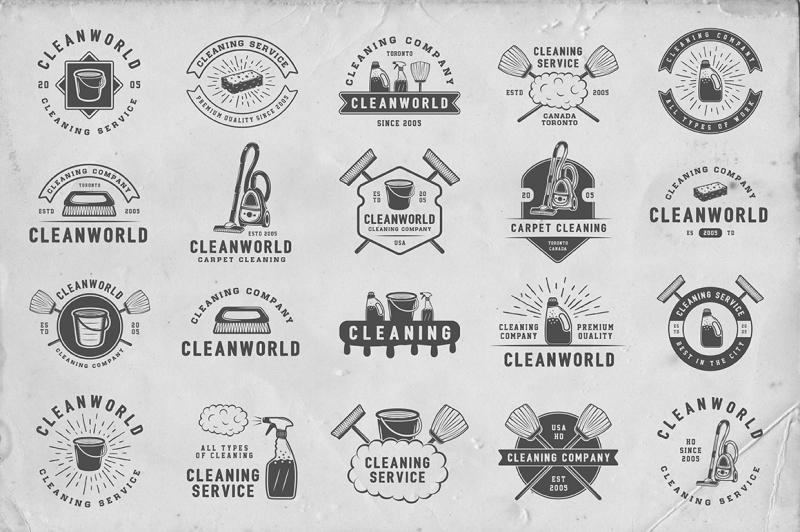 set-of-vintage-cleaning-emblems