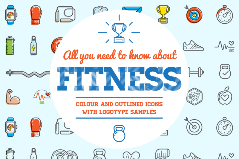 awesome-fitness-gym-icons-and-logo-set