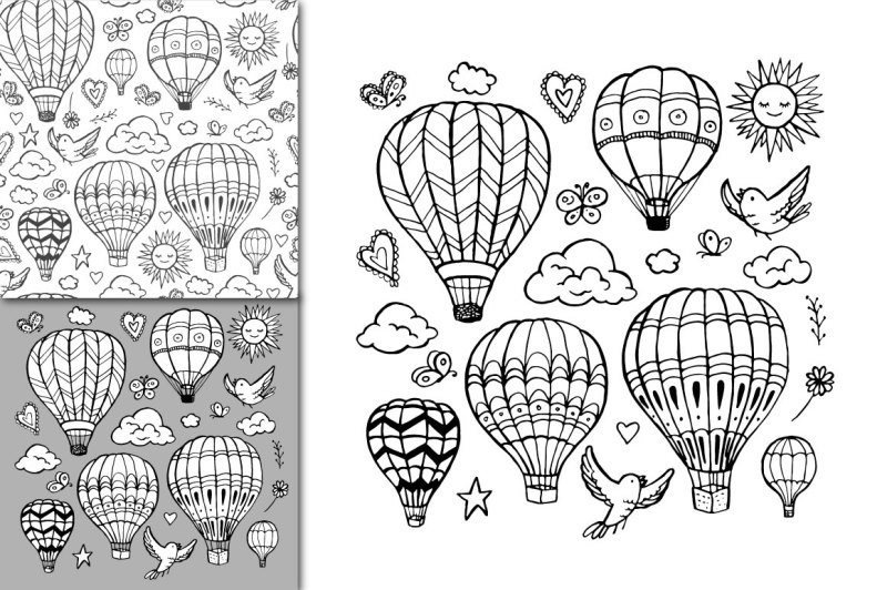 vector-air-balloon-set-pattern