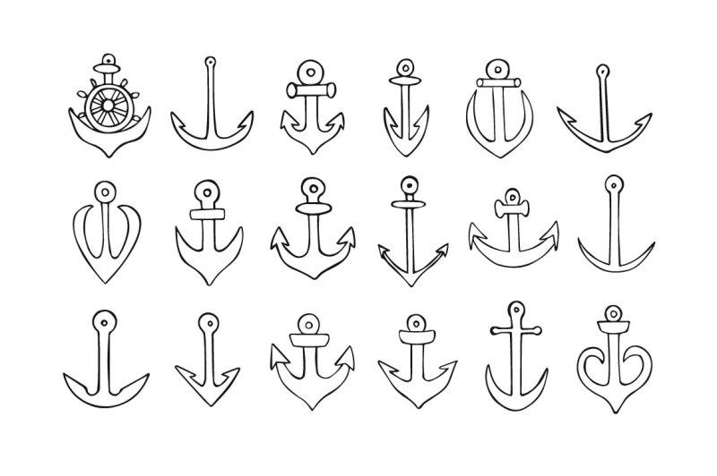 doodle-sailor-anchors-patterns