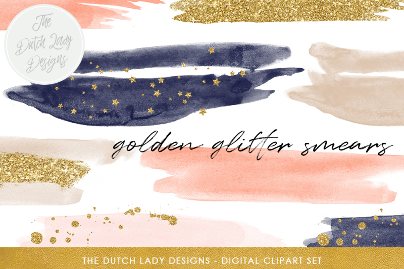 watercolor-smear-clipart-in-navy-and-blush