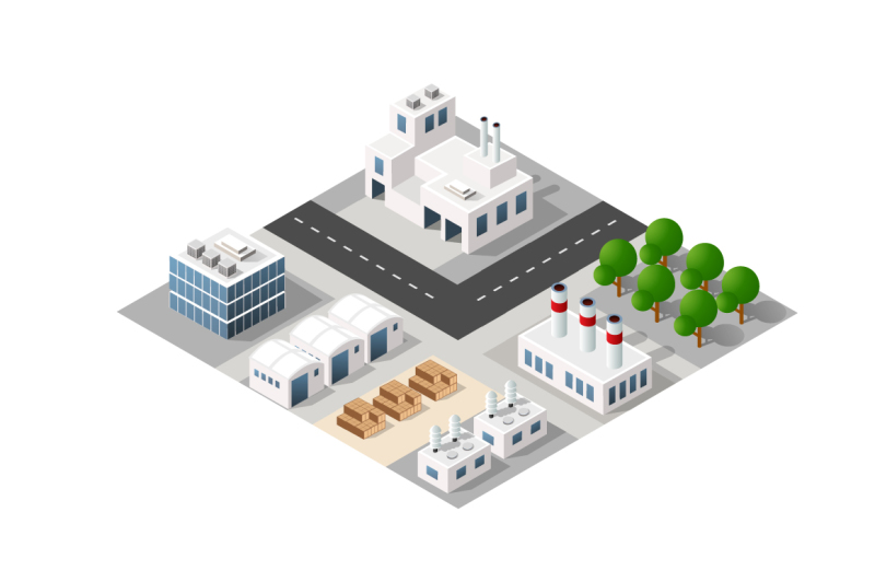 city-bundle-module-creator-vector-isometric