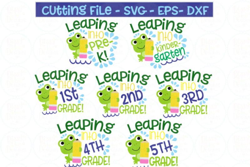 Leaping Grades Bundle Svg Dxf Eps Cutting File By Bizzy Lou Designs Thehungryjpeg Com