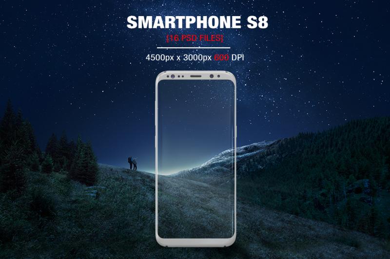 Free Samsung Galaxy S8 App Mockup (PSD Mockups)