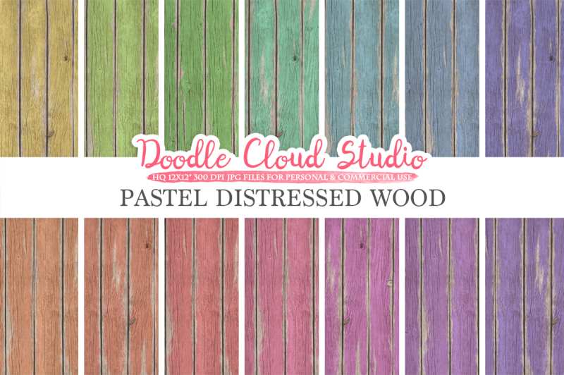 distressed-wood-digital-paper-pastel-rainbow-colors-old-fence-wood-backgrounds-real-rustic-wood-textures-instant-download-commercial-use