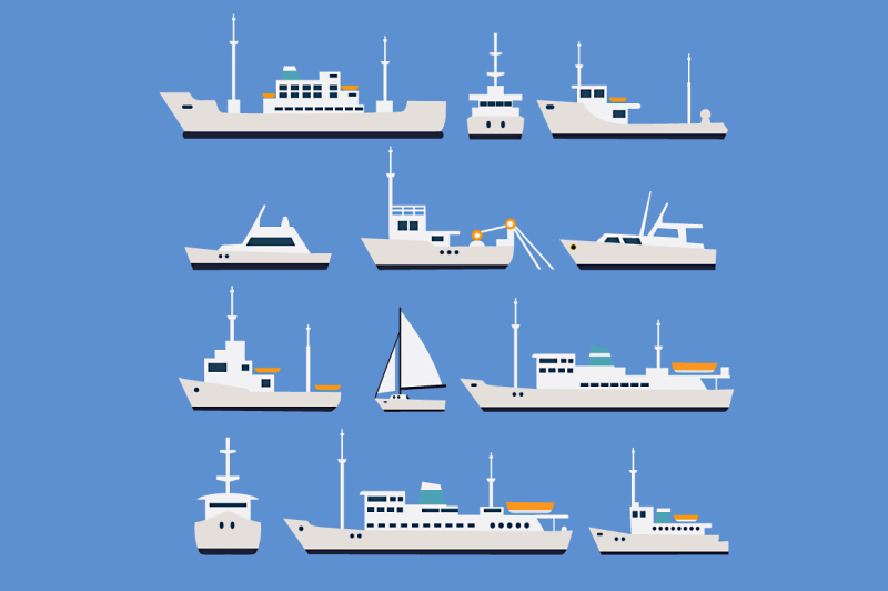 vector-vessels-ships-boats-and-trawler
