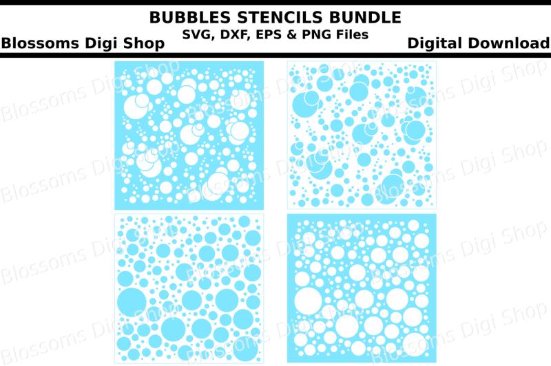 bubbles-stencils-bundle-svg-dxf-eps-and-png-files