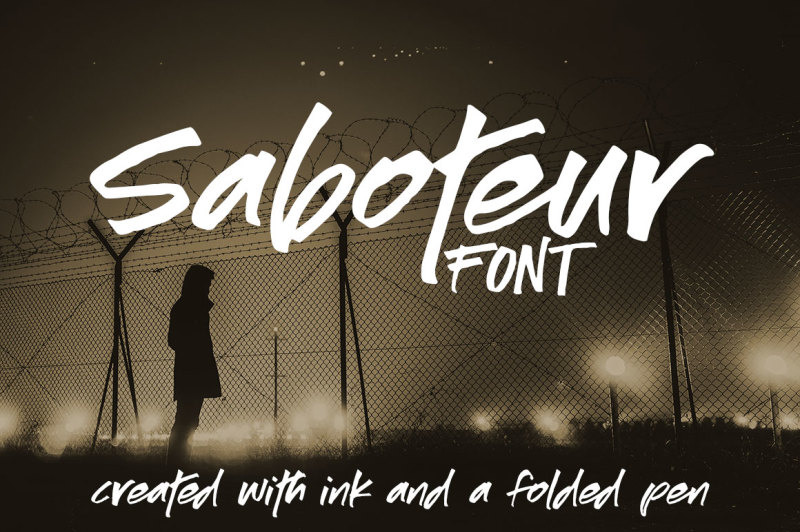 saboteur-a-moody-inky-font