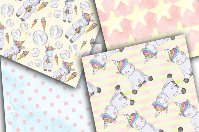 cute-unicorns-hand-painted-clipart