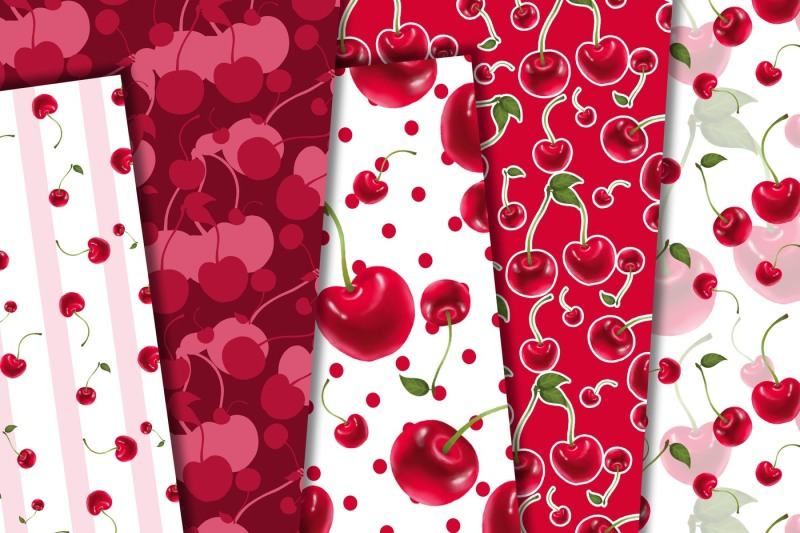 cherry-digital-paper-pack