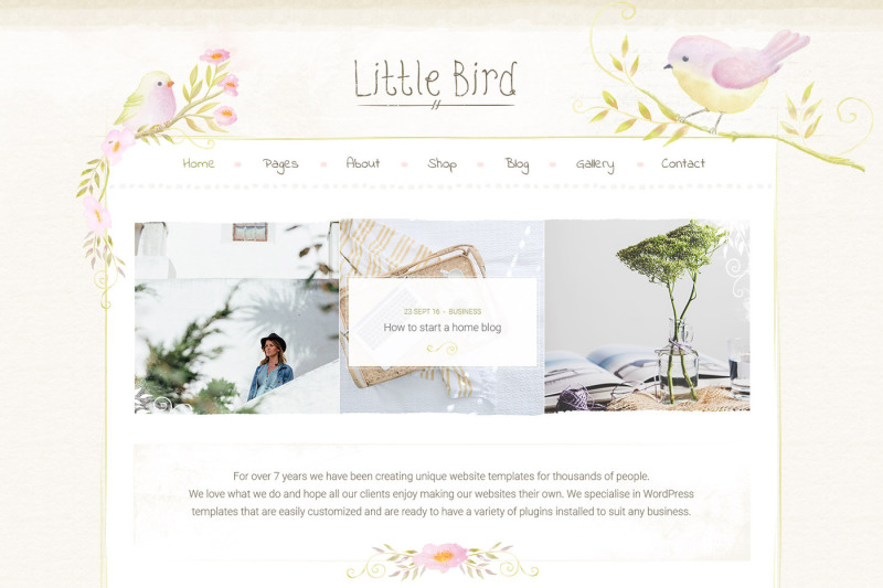 little-bird-shop-blog-design-psd