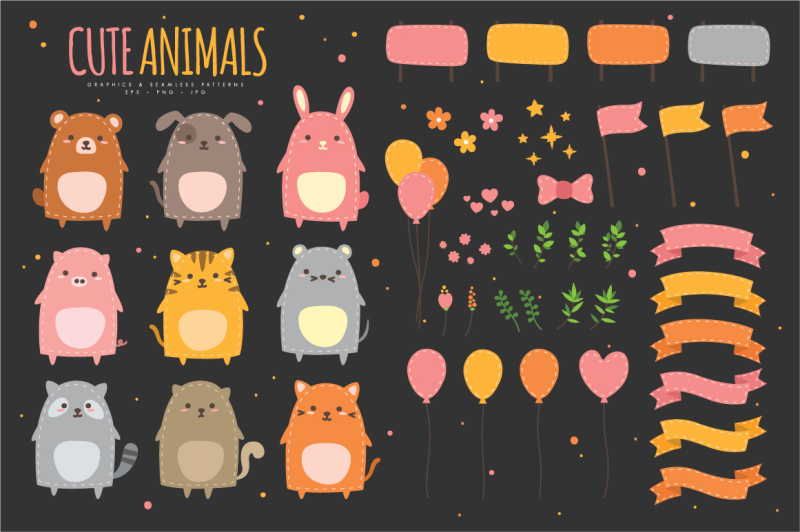 cute-animals-graphics-and-patterns