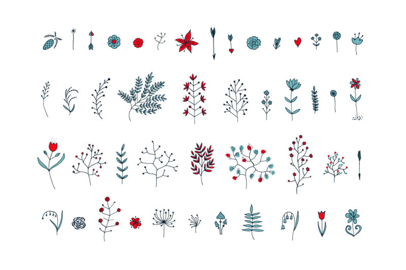vector-floral-branches-and-patterns