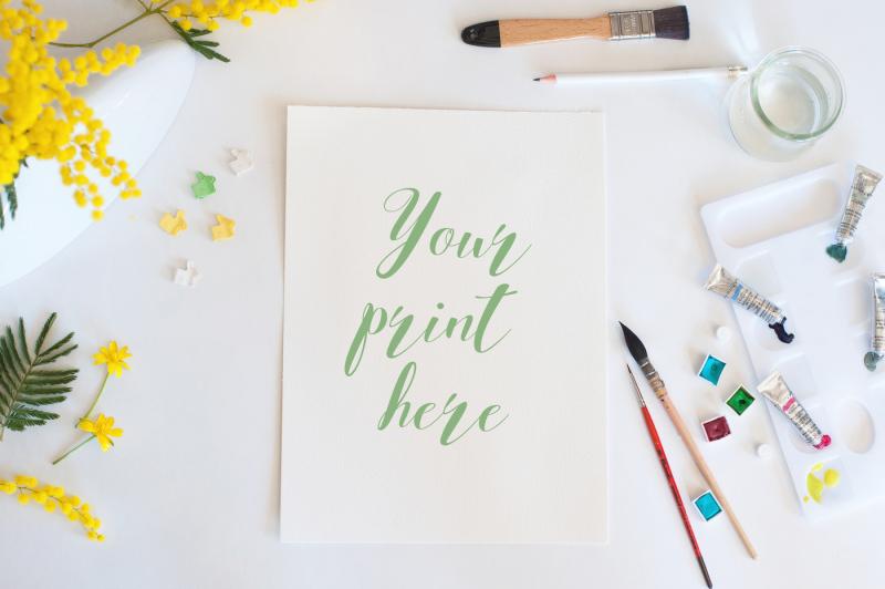 set-of-6-mockups-watercolor-spring