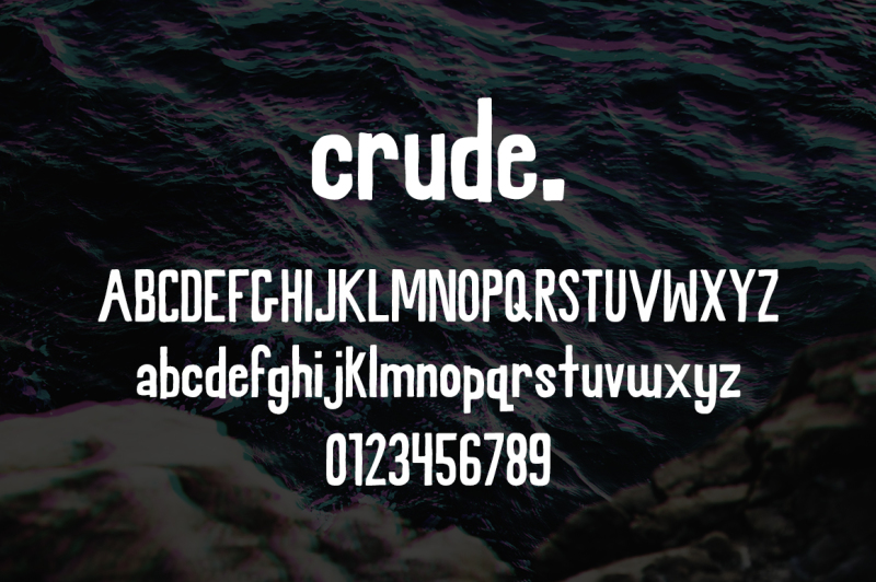 crude-a-rough-hand-font