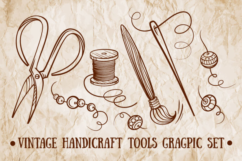 vintage-handicraft-tools-graphic-set