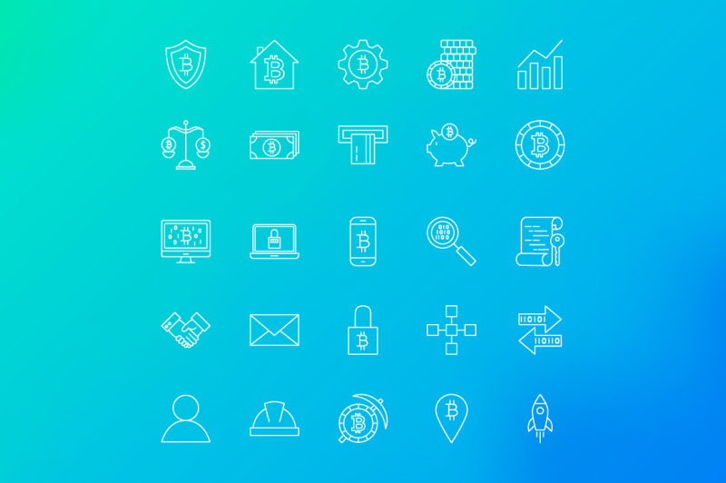 bitcoin-line-art-icons