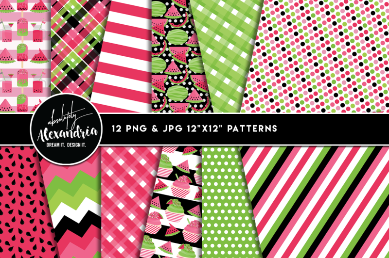 sweet-summer-melon-graphics-and-patterns-bundle