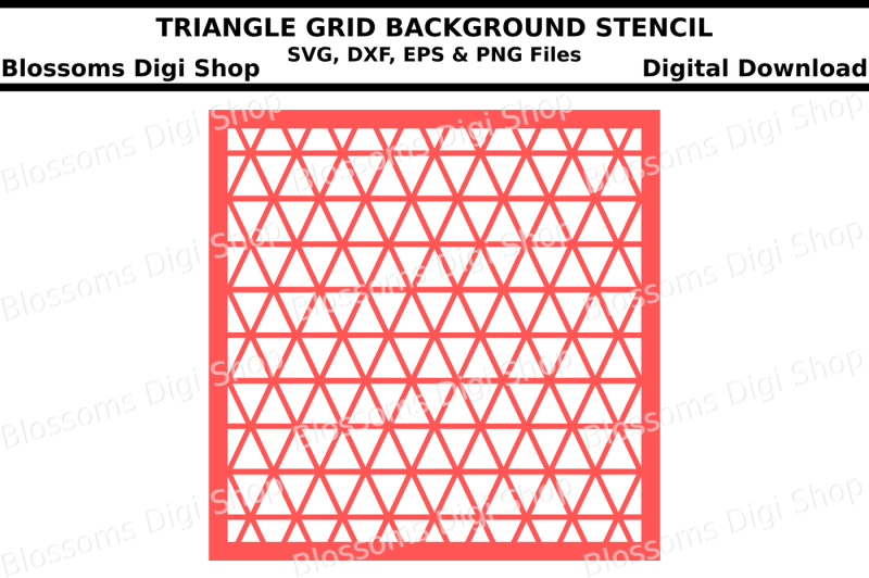 triangle-grid-background-stencil-svg-dxf-eps-andpng-files