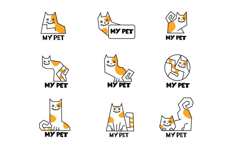 vector-cartoon-cat-icons
