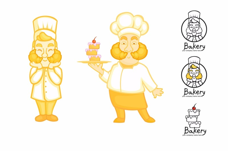 vector-cook-characters