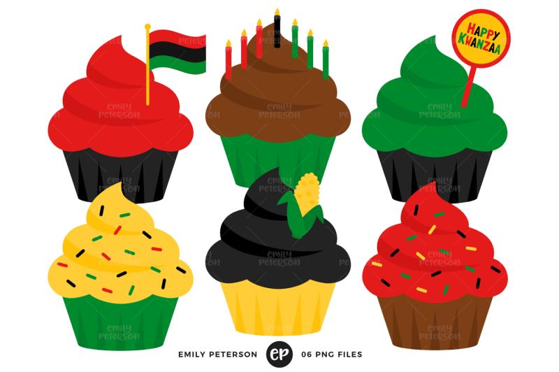 kwanzaa-cupcakes-clipart