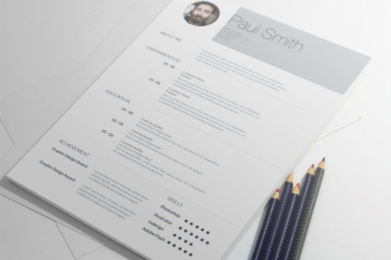 Simple Clean Resume Template Cv Coverletter