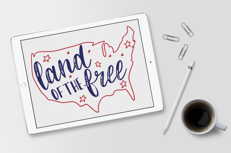 land-of-the-free-hand-lettered-cut-file