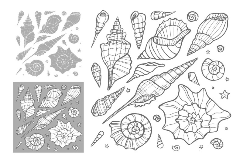 vector-sea-shells-patterns