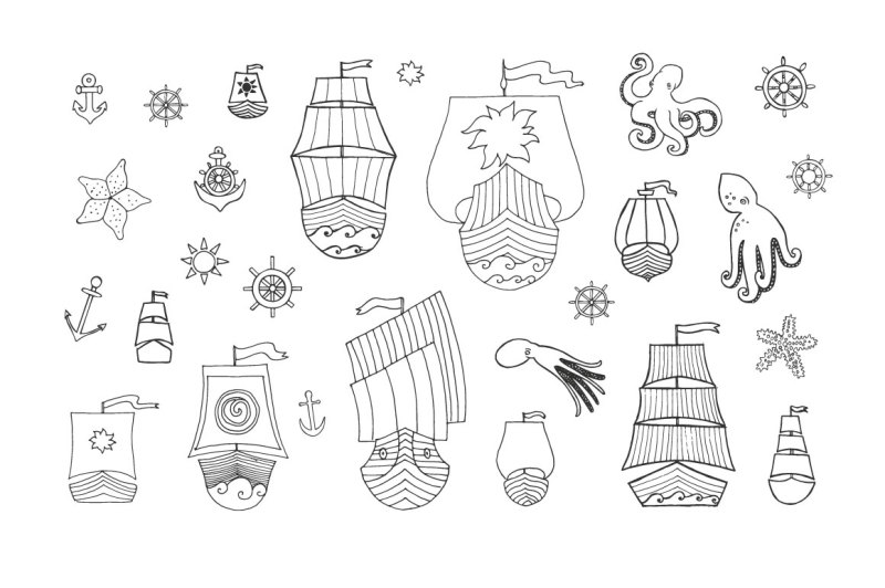 vector-doodle-boats