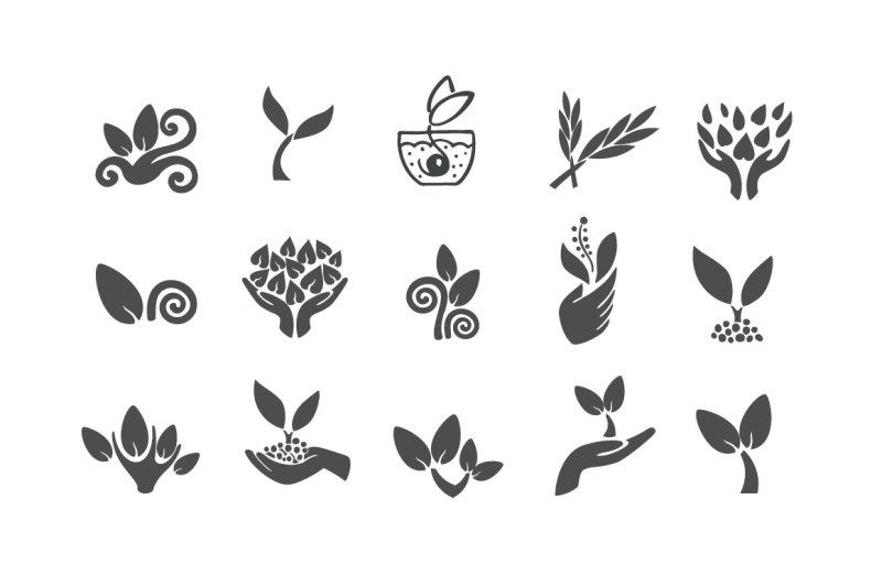 vector-plant-and-sprout-icons