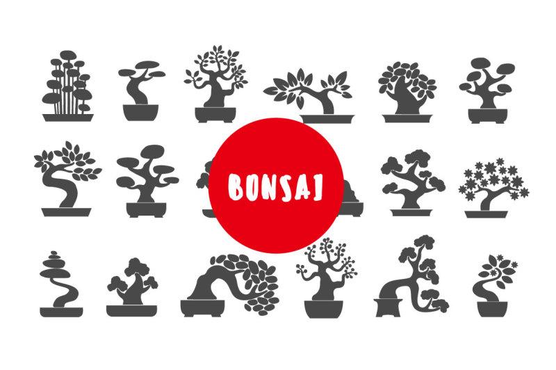 bonsai-illustration-icon-set
