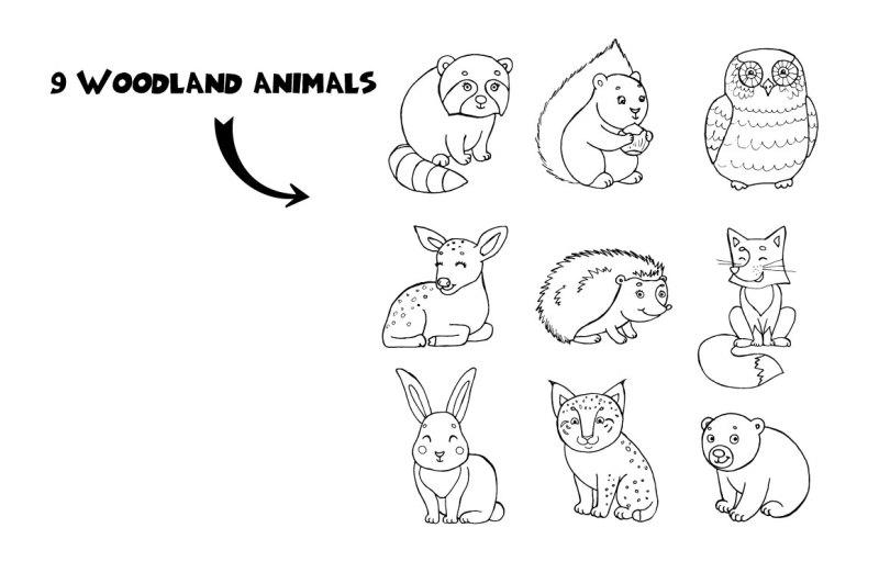 woodland-vector-animals-patterns