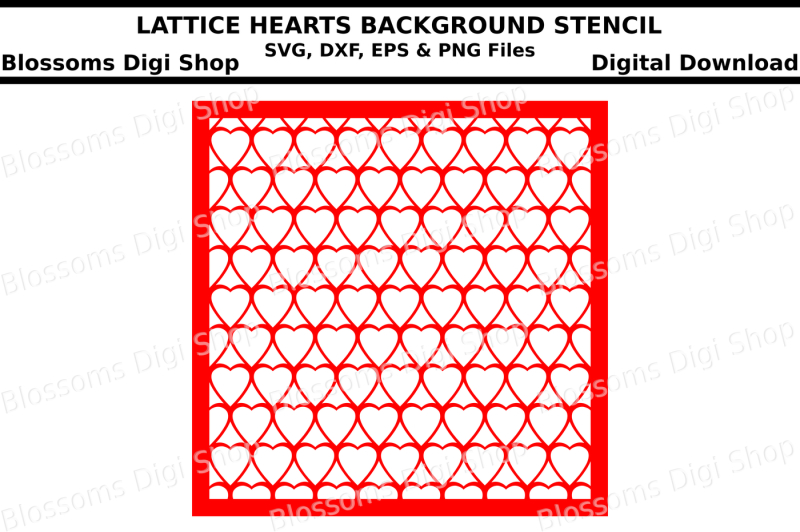 lattice-hearts-background-stencil-svg-dxf-eps-and-png-files