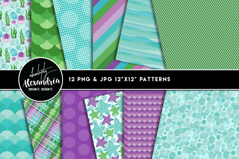 mermaid-tails-graphics-and-patterns-bundle