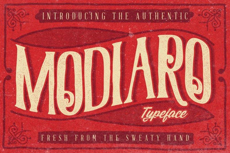 modiaro-vintage-branding-logo-font