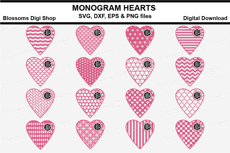 monogram-pattern-hearts-bundle-svg-dxf-eps-and-png-files