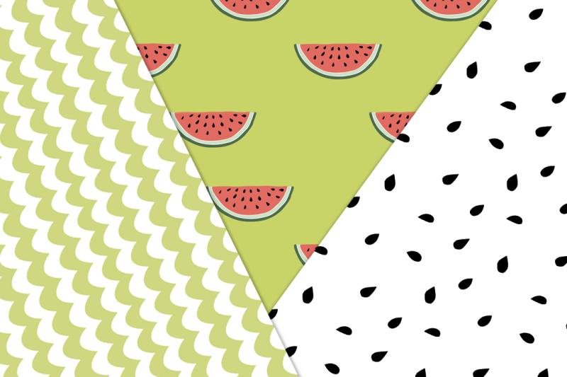 watermelon-seamless-vector-patterns