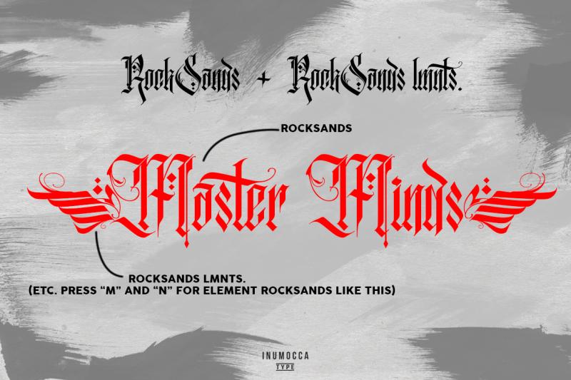 rocksands-typeface