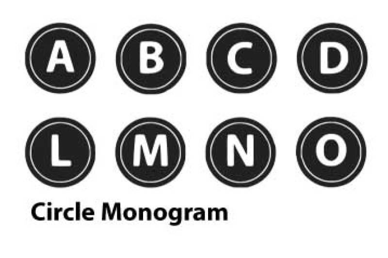 circle-monogram-font