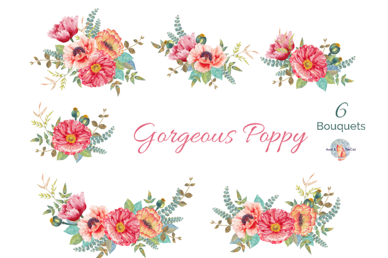 gorgeous-poppy-watercolor-clipart