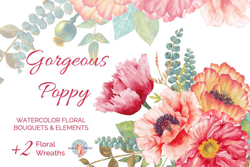 gorgeous-poppy-watercolor-clipart