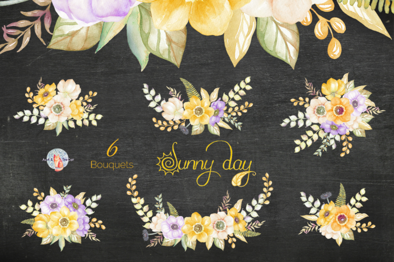 sunny-day-watercolor-clipart