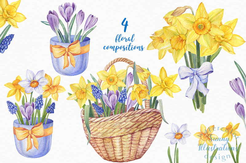 watercolor-daffodils